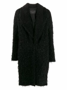 Fabiana Filippi textured coat - Black