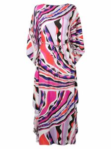 Emilio Pucci Burle Print Belted Maxi Dress - Pink