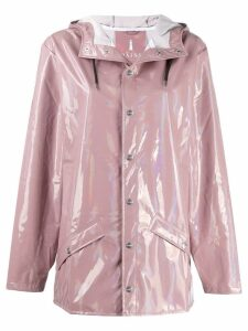 Rains hooded raincoat - PINK