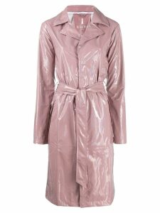 Rains belted raincoat - Pink