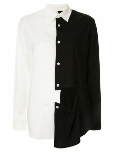 Y's contrast cutout detail shirt - White