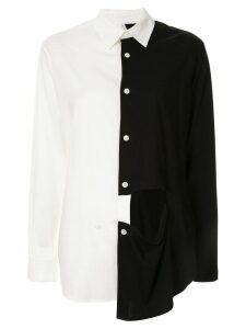 Y's contrast cutout detail shirt - White