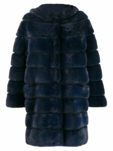 Simonetta Ravizza ribbed coat - Blue