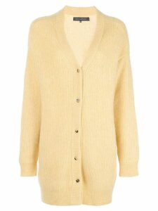 Sally Lapointe ribbed knit cardigan - Yellow