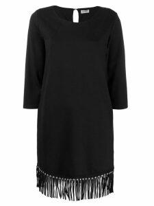 LIU JO fringed hem dress - Black