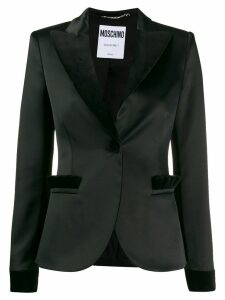 Moschino classic fitted blazer - Black