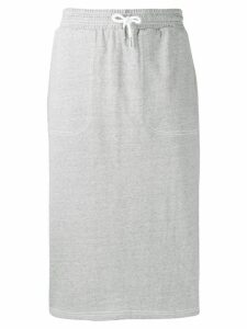 SJYP drawstring waist midi skirt - Grey