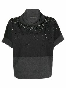 Fabiana Filippi sequin-embellished knitted top - Grey