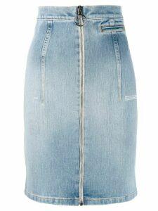 Off-White zip-front denim skirt - Blue