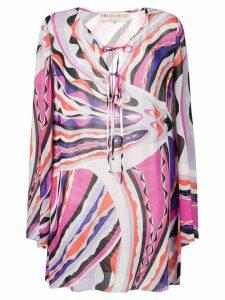 Emilio Pucci Burle Print Tie-Front Beach Dress - Pink