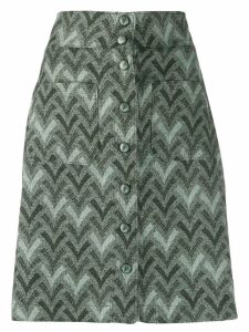 Acne Studios straight jacquard skirt - Green