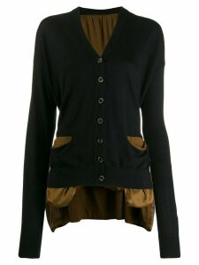 Uma Wang oversized contrast cardigan - Brown