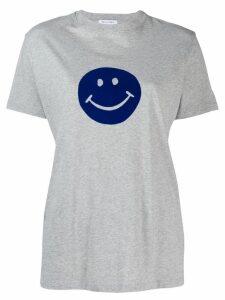 Bella Freud Flocked Happy T-shirt - Grey
