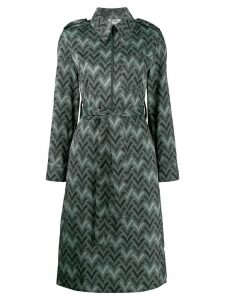 Acne Studios zig zag print shirt dress - Green