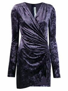 Off-White short velvet draped dress - Blue