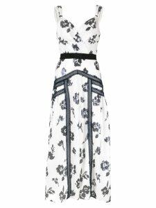 Self-Portrait floral lace detail dress - White