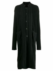 Uma Wang striped midi coat - Black