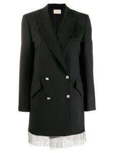 Giuseppe Di Morabito double-breasted fringed blazer - Black