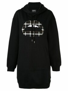 Markus Lupfer logo patch hoodie dress - Black
