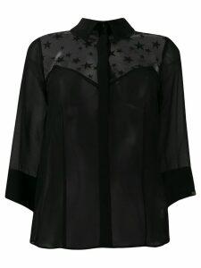 Elisabetta Franchi star print blouse - Black