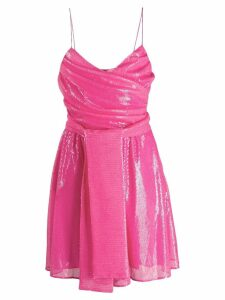 MSGM sequin detail wrap dress - Pink