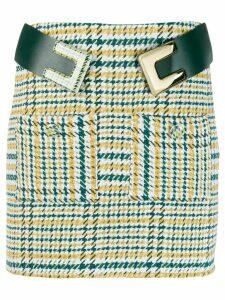 Elisabetta Franchi checkered mini skirt - White