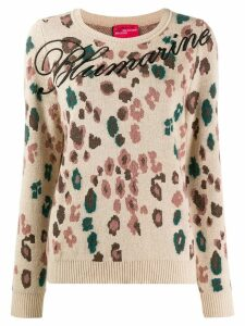 Blumarine floral logo jumper - Brown