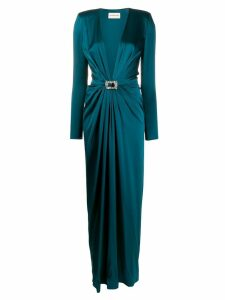 Alexandre Vauthier belted maxi dress - Blue