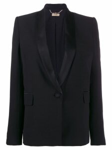 LIU JO single breasted tuxedo blazer - Black