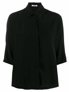 Styland button collar blouse - Black
