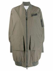 Brunello Cucinelli boxy bomber jacket - Green