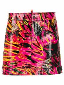 Dsquared2 tie-dye effect mini skirt - Black