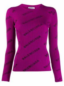 Balenciaga L/S Crewneck jumper - Purple