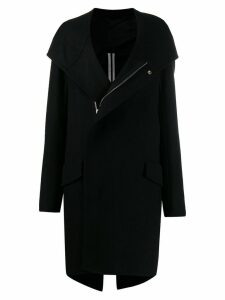 Rick Owens oversized zipped coat - Black