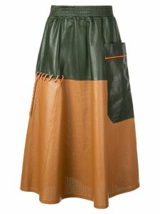 Mira Mikati contrast textured skirt - Brown