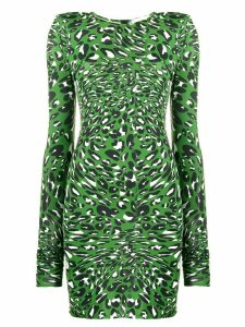 Alexandre Vauthier leopard print mini dress - Green