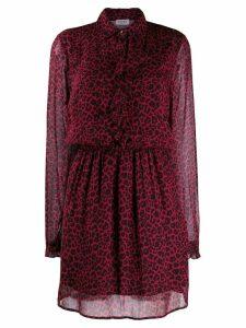 Liu Jo leopard print shirt dress - Red
