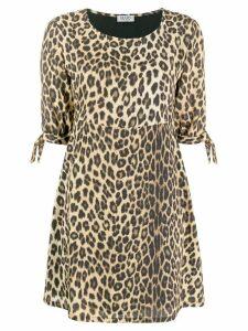LIU JO leopard print dress - Brown