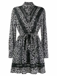LIU JO floral print shirt dress - Black