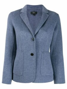 Theory single-breasted fitted blazer - Blue