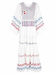 Mira Mikati printed tiered dress - White