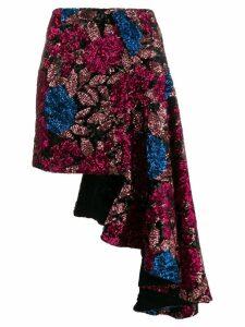 Giuseppe Di Morabito asymmetric sequined skirt - Black
