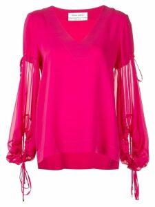 Prabal Gurung sheer sleeves blouse - Pink