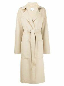 Nanushka belted coat - Neutrals