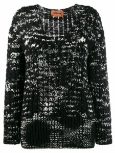 Missoni two-tone knit jumper - Black