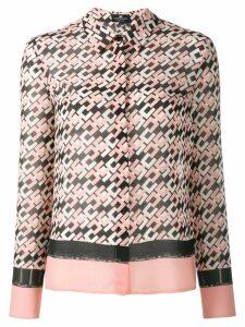 Elisabetta Franchi logo print shirt - Pink