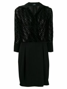 Elisabetta Franchi logo print dress - Black
