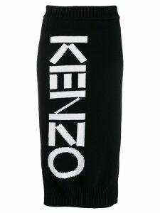 Kenzo knitted logo skirt - Black