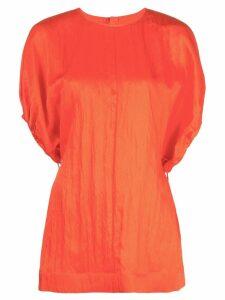 Jil Sander creased detail dress - Red