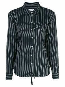 Opening Ceremony lace-up stripe back shirt - Blue